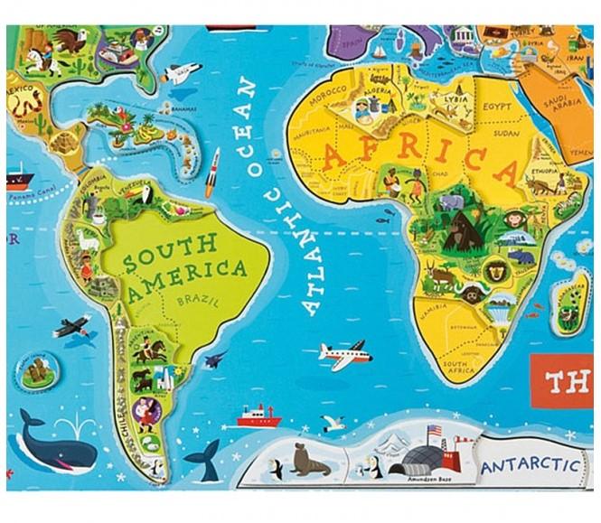Najboljše darilo – magnetni zemljevid sveta